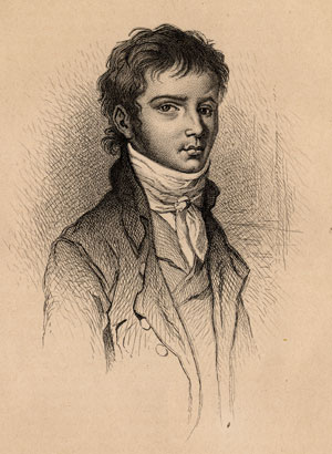 Beethoven at around age 30  Portrait lithograph by Masson, Deblois and Massard based on the engraving by Joseph Neidl from 1801, published in the book  Les musiciens célèbres depuis le seizième siècle jusqu'à nos jours  by Félix Clèment, first published in 1868.