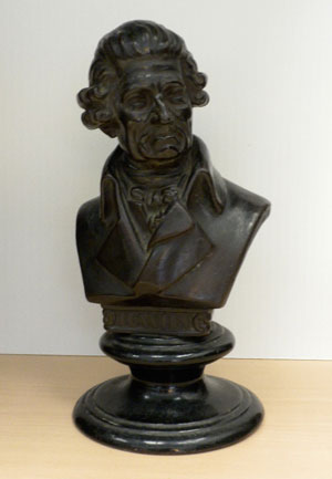 Joseph Haydn (1732-1809)  Clay bust by Rudolf Uffrecht, 1863. Gift of the American Beethoven Society, 2003