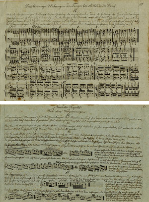 A Keyboard Method Book from 1790-1800; Two pages from a manuscript by an unidentified teacher;  Gift of the American Beethoven Society, 2009 and 2010