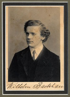 lhelm Backhaus (1884-1969), a student of d'Albert  Photograph with autograph musical inscription to Henry Effling in Manchester, dated Feb. 27, 1902 Gift of the American Beethoven Society, 1998