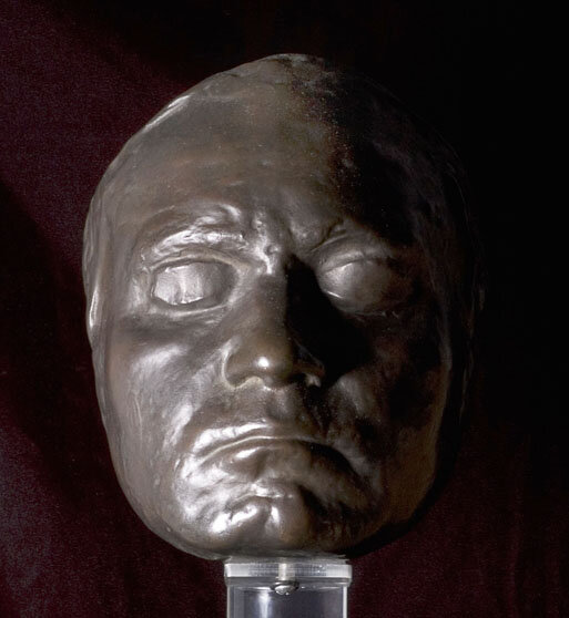 Death mask of Beethoven by Danhauser, plaster reproduction by Gebrüder Micheli, Berlin, for the Beethoven-Haus in Bonn, ca. 1920;Gift of the American Beethoven Society, 2008