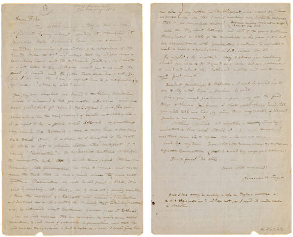Letter from Thayer to Daniel Willard Fiske, [June 4], 1863;  Gift of the American Beethoven Society, 2009    READ COMPLETE TRANSCRIPTION