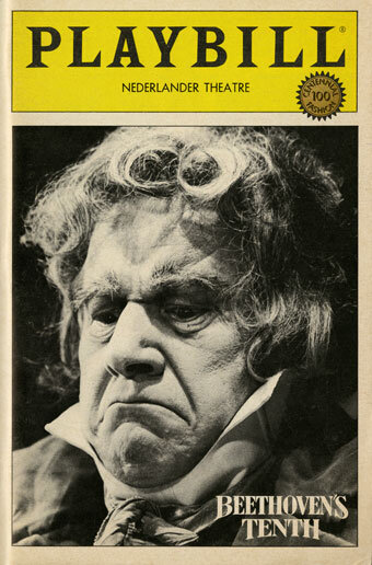 Playbill for the performances at the Nederlander Theatre, New York, which opened on April 22, 1984, starring Peter Ustinov as Beethoven.