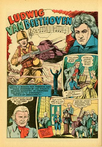 """""""Ludwig van Beethoven"""" From Real Life Comics, v. 5, no. 3 (January 1944)"""