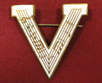 """""""V"""" for Victory pin"""