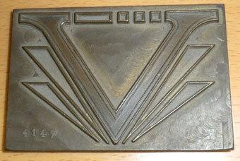 """""""V"""" for Victory brass foil die"""