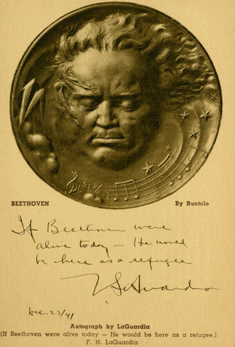 Beethoven medallion by Onorio Ruotolo (1888-1966)