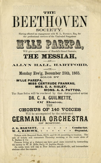 Concert program, The Beethoven Society, Hartford, Connecticut