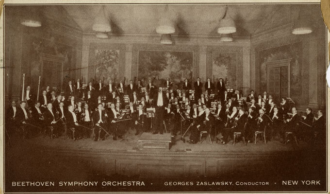 the Beethoven Symphony Orchestra, New York