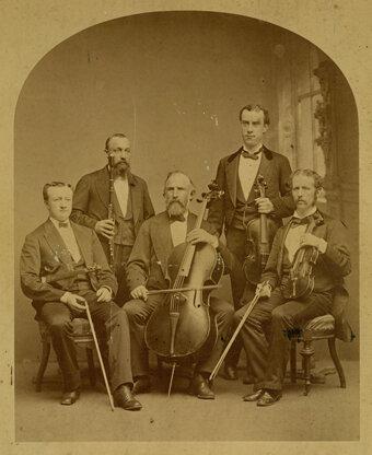 The Beethoven Quintette Club, Boston, ca. 1873