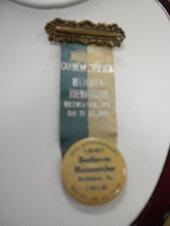 Committee ribbon, Beethoven Maennerchor, Bethlehem, Pennsylvania