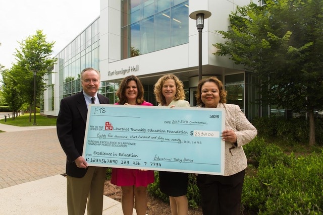 Photo (from left to right): Scott Nelson, Senior Vice President, ETS; Amy Davis, President, LTEF Board of Trustees; Karen Faiman, Executive Director, LTEF; and Lenora Green, Executive Director, Center for Advocacy and Philanthropy, ETS.