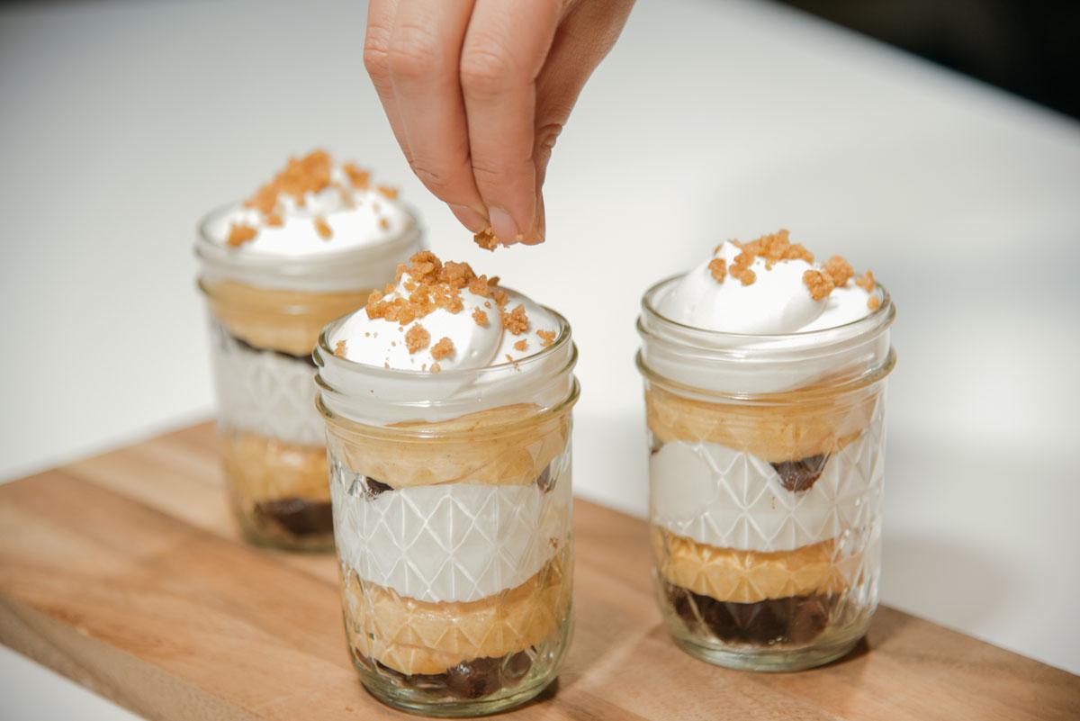 pumpkin brownie trifles