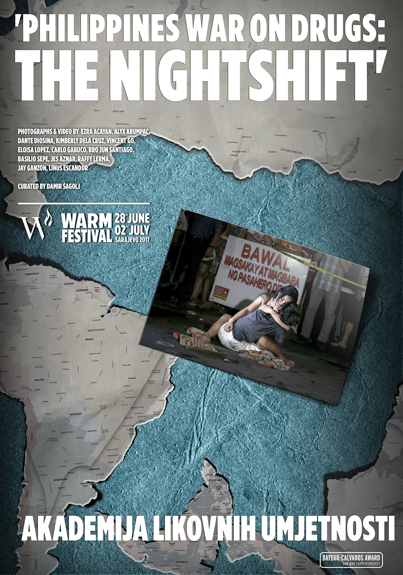 WARM Festival Philippines War on Drugs The Nightshift poster