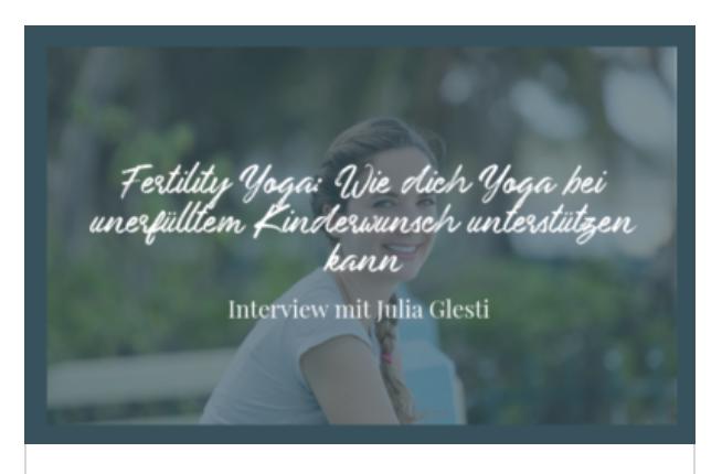 #27 Podcast - Fertility Yoga: Wie dich Yoga bei unerfülltem Kinderwunsch unterstützen kann     Feel Femtastic Podcast
