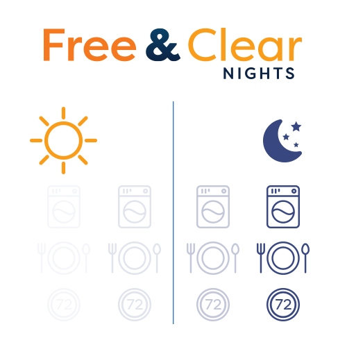 free & clear nights - Sleep cool and comfortably every night with 100% free electricity, and save money all day knowing it's 100% wind powered energy.
