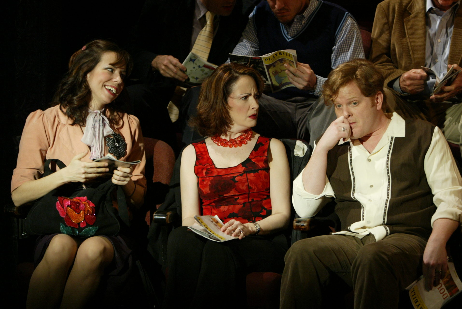 """With Michele Ragusa and Mark Aldrich in """"The Audience"""", directed by Jack Cummings III for Transport Group."""