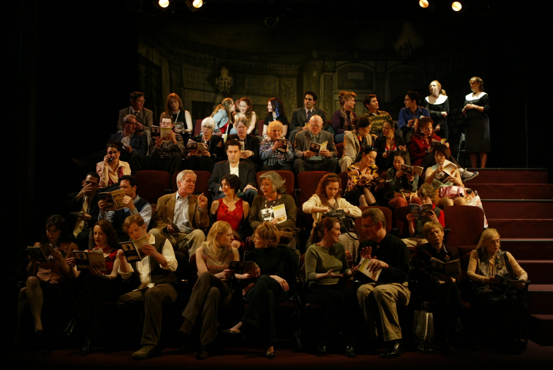 """Full cast of """"The Audience,"""" directed by Jack Cummings III for Transport Group."""