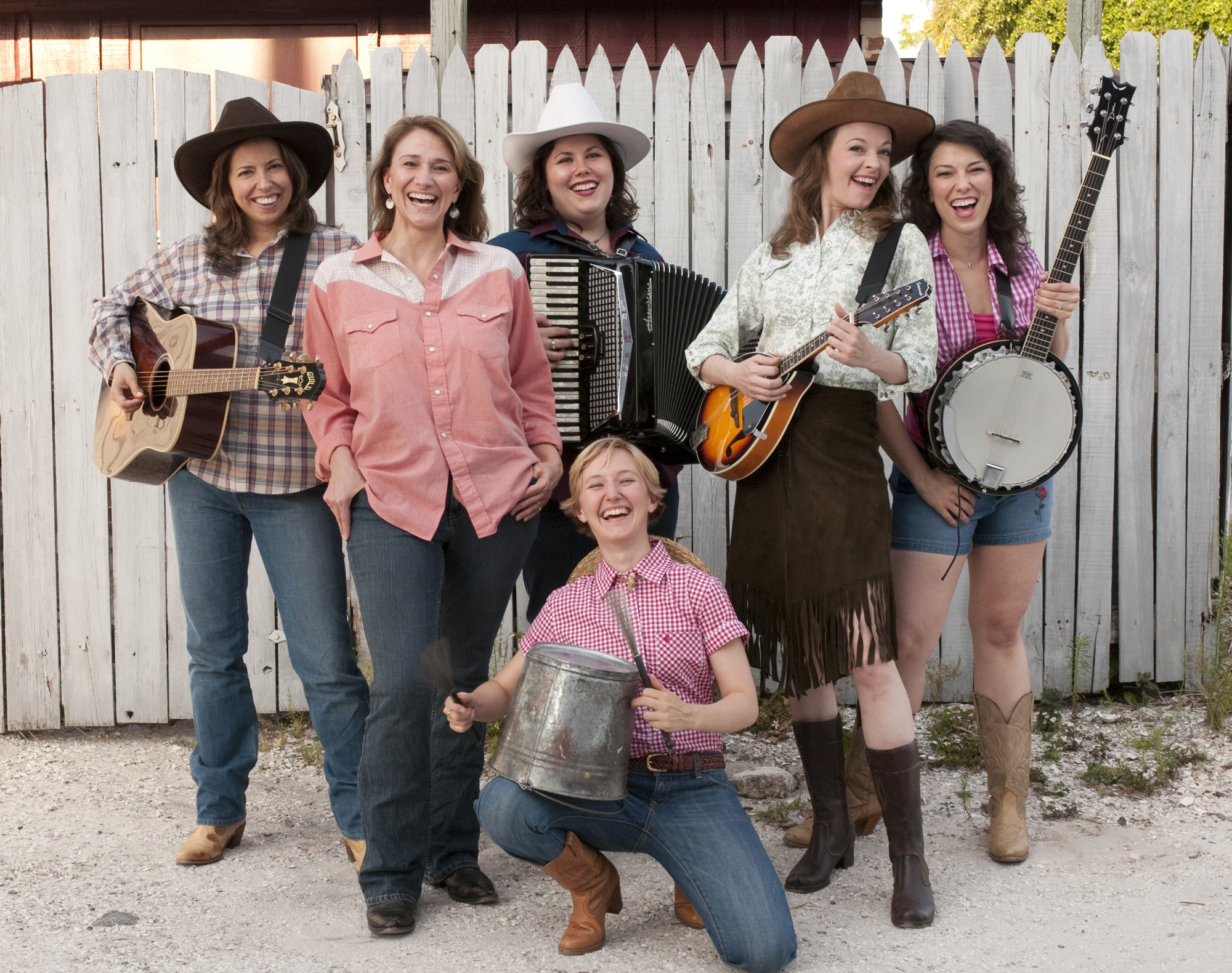 """With the cast of """"Cowgirls"""" for Florida Studio Theatre."""