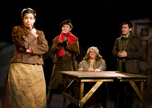 """As Mrs. Bob Cratchit in """"Mrs. Bob Cratchit's Wild Christmas Binge"""" by Christopher Durang, for the Gallery Players."""