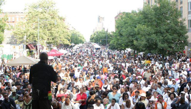 HARLEM DAY crowd.