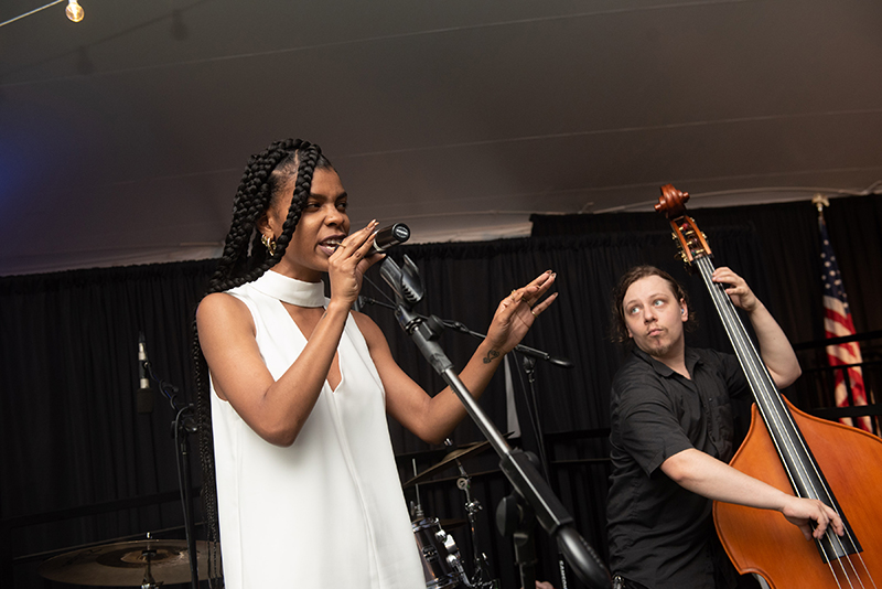 Live entertainment was provided by the Memphis Singing Duo - Talibah Safyira and Dylan Kaminkow.