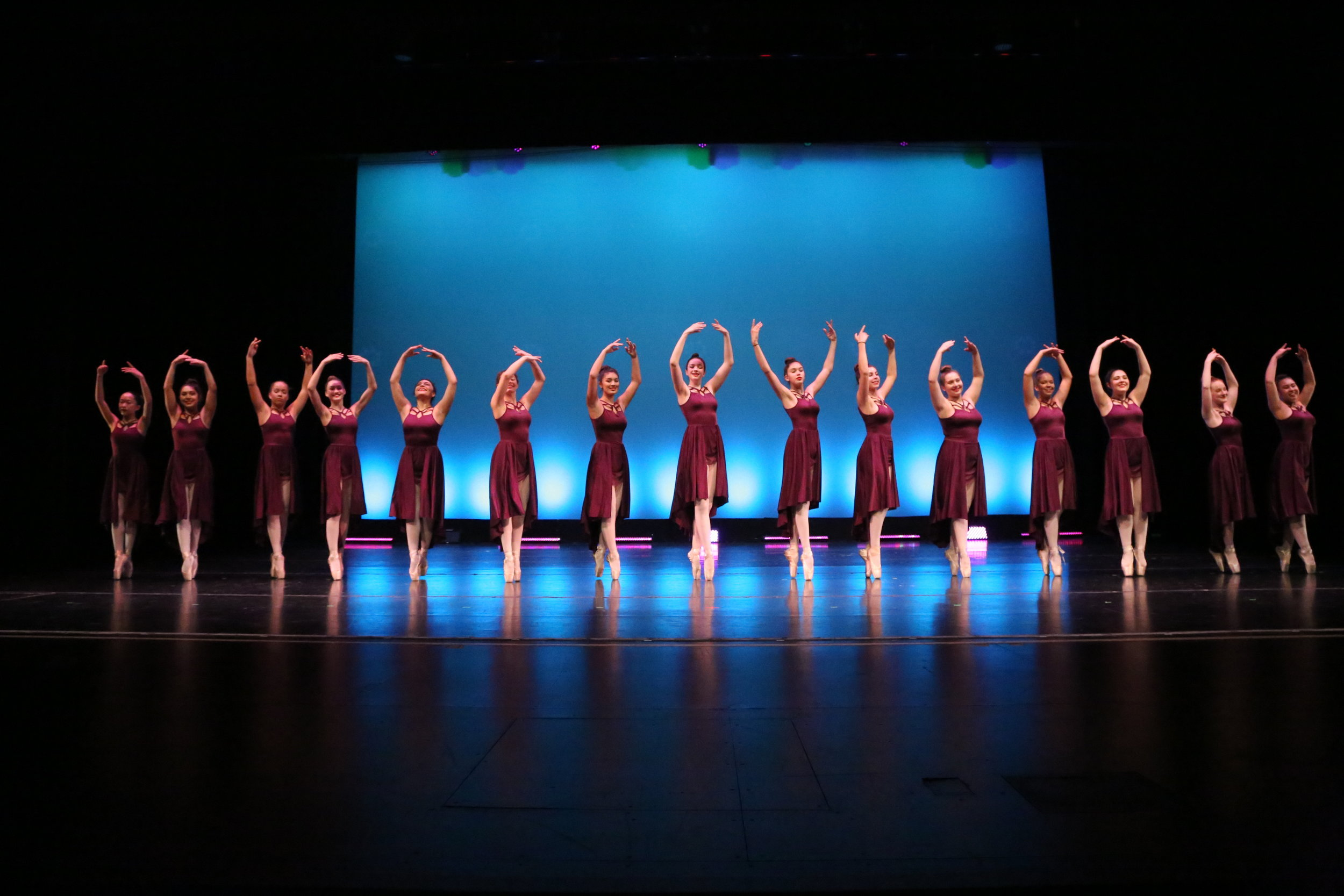 Performing in a full scale dance production teaches valuable lessons of self-confidence, memorization, energy, stamina, focus, organization and most of all, teamwork -