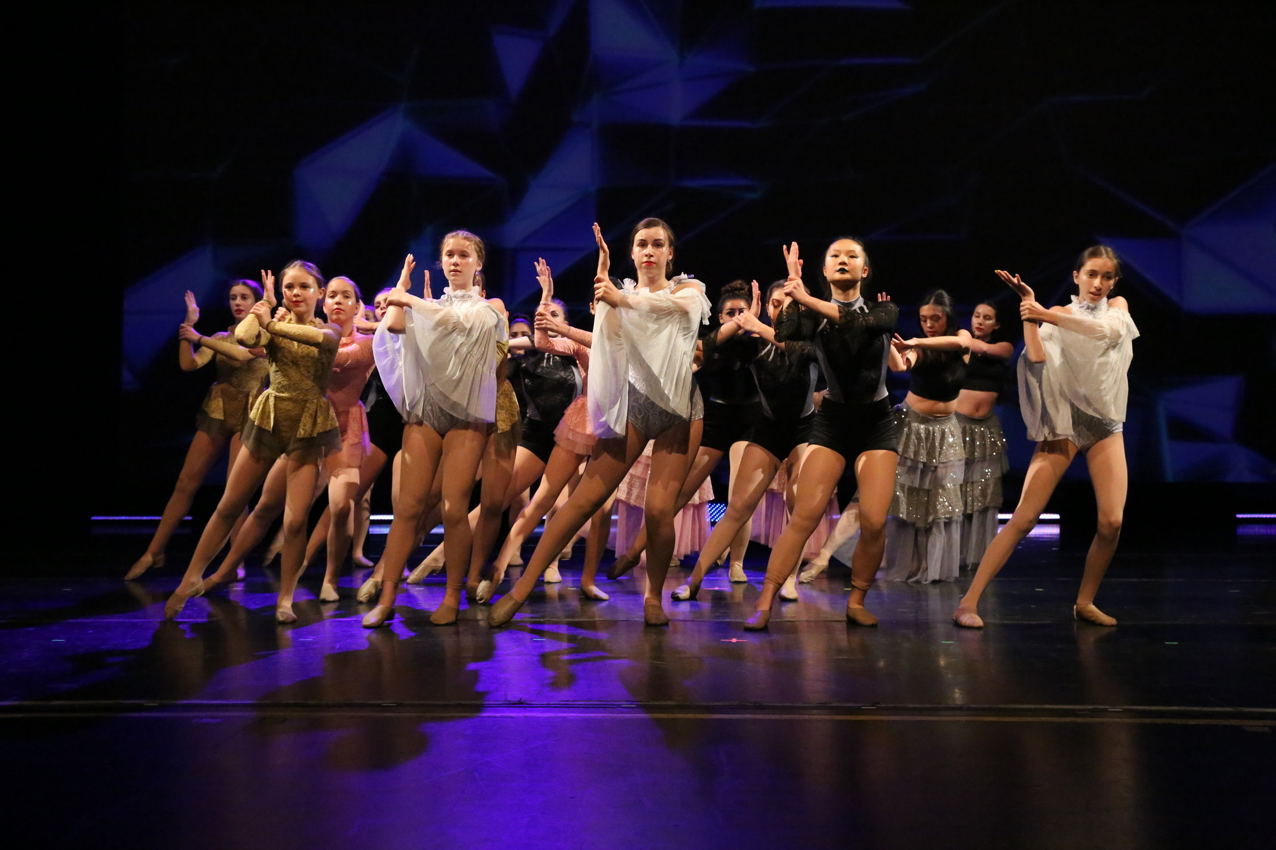 We feel strongly that all dancers deserve a chance to perform. Our performances are optional, but most students anticipate the shows with great excitement. -