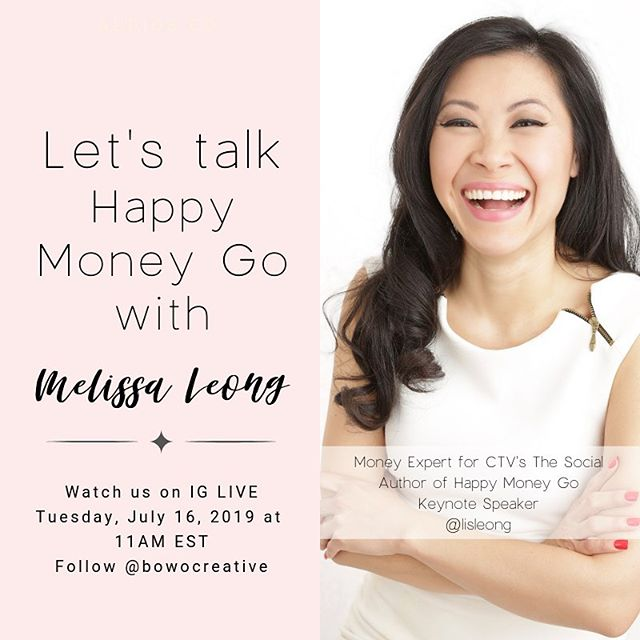 "You ask! We deliver! ✨ We are cooking up a ""Money Mindset For BossBabe Workshop"" for you based on the popular demand so stay tuned! In the mean time, we would like to bring you an awesome money expert, @lisleong. ✨ When: Tuesday, July 16th at 11AM - 11: 30AM EST Where:  Tune in @bowocreative to watch our CEO & Founder @xotraceynguyen going LIVE and have a #bowotribe chat with Melissa Leong. ✨ A little bit about this boss woman @lisleong: Melissa Leong is one of Canada's best-loved authorities on personal finance. She's the resident money expert on Canada's leading daytime talk show, The Social on CTV. She's the author of the award-winning, feel-good finance guide Happy Go Money. She also spent almost two decades as a newspaper journalist, interviewing thousands of people, and most recently covered personal finance for the Financial Post. ♥️ Okay, ladies! You are in for a good treat so mark your calendar! . . . . . . . . #mycreativebiz #thatsdarling #creativeminds #creativeentrepreneur #savybusinessowner #moneymindset #styledstockphoto #brandingcoach #creativelifehappylife #makersgonnamake #toronto #torontobusiness #entrepreneurlife  #calledtobecreative #bowotribe #pursuepretty #chasinglight #bossbabe #girlboss #beingboss #etsy #womeninbiz #laptoplifestyle"