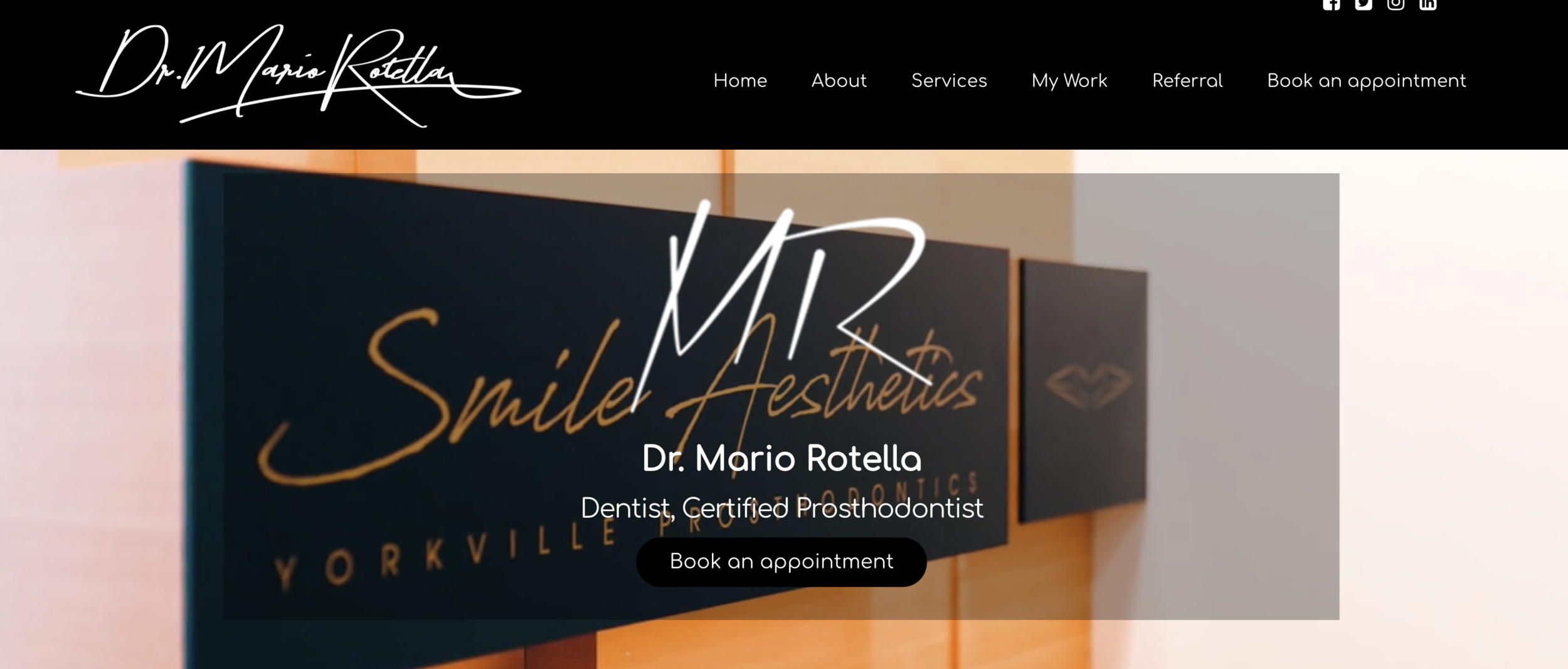 Project: Dr. Mario Rotella - Check out his interactive & responsive website HERE