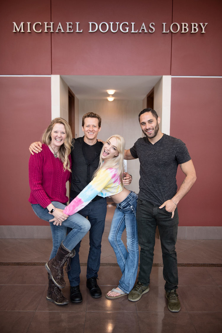 Jacky St. James (left) with writer Shawn Alff, and adult actors Kenna James and Damon Dice