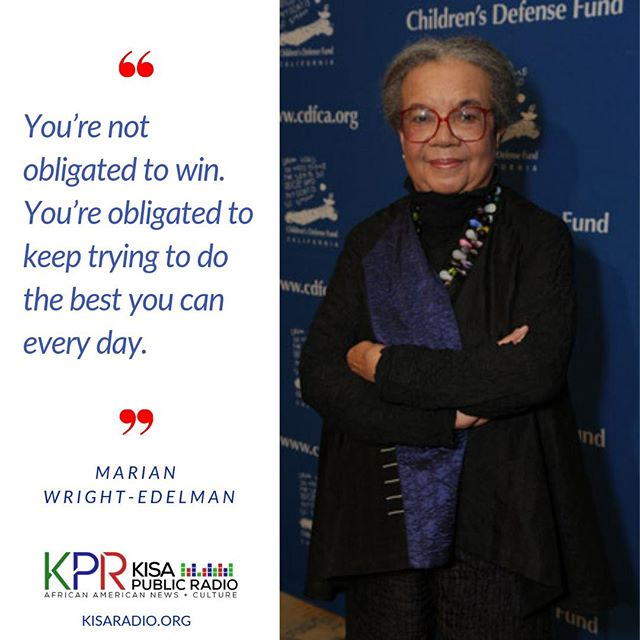 #MarianWrightEdelman has been an #advocate & #activist for children & the disadvantaged & founder of the Children's Defense Fund. She began practicing law, working on racial justice issues connected with the #civilrightsmovement & helped establish the #HeadStart program. #wcw