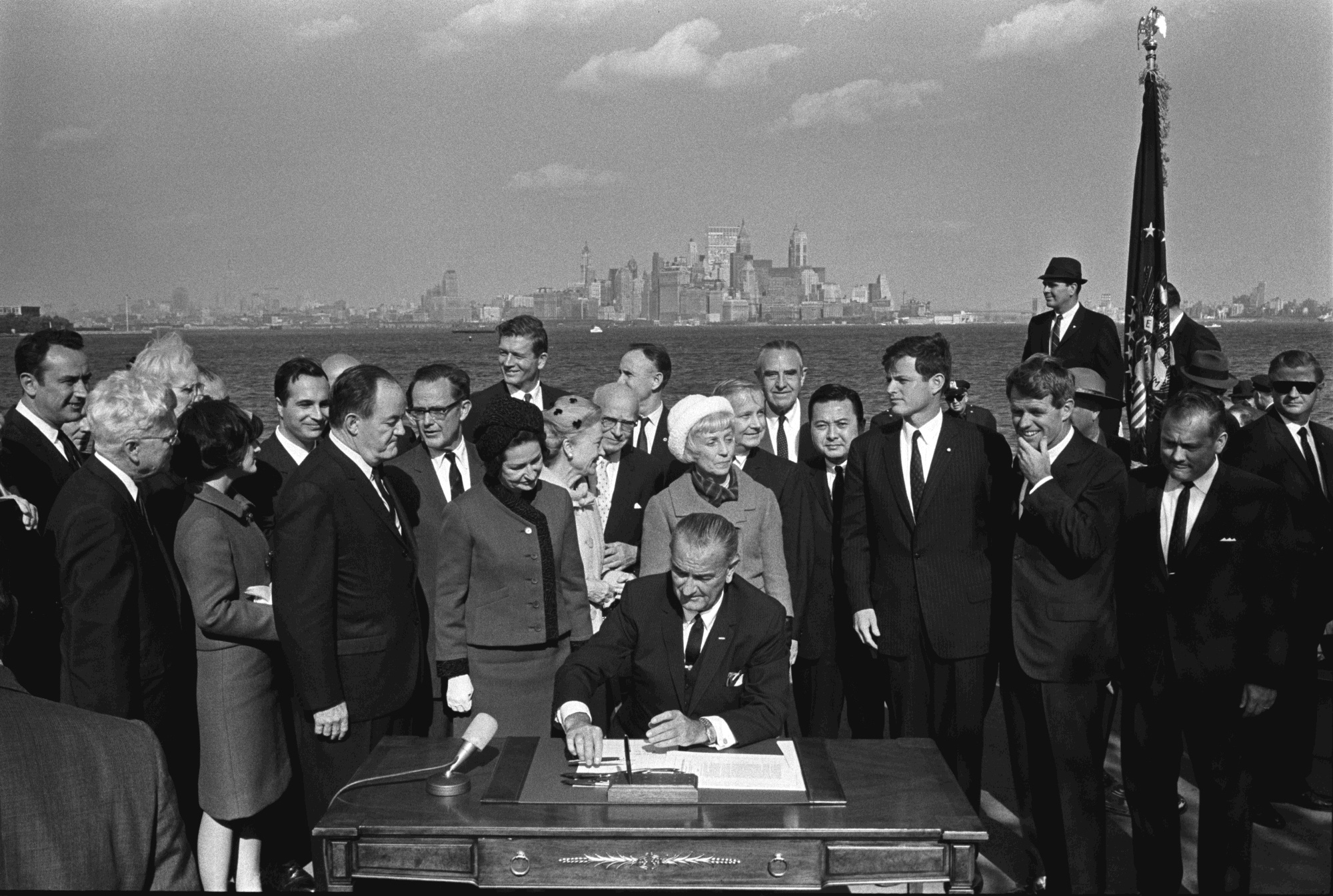 President Lyndon B. Johnson signed The Immigration and Nationality Act on October 2, 1965 -