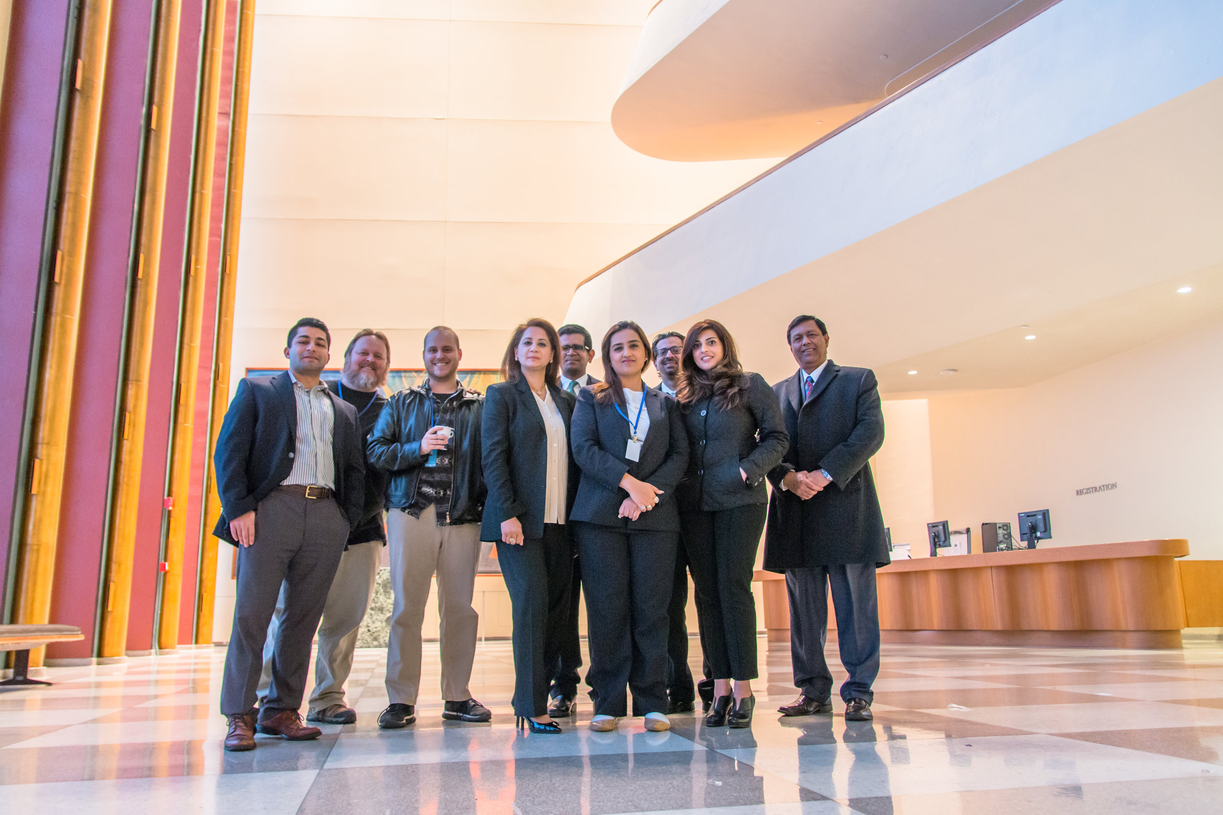 An APF delegation at United Nations headquarters in New York City.
