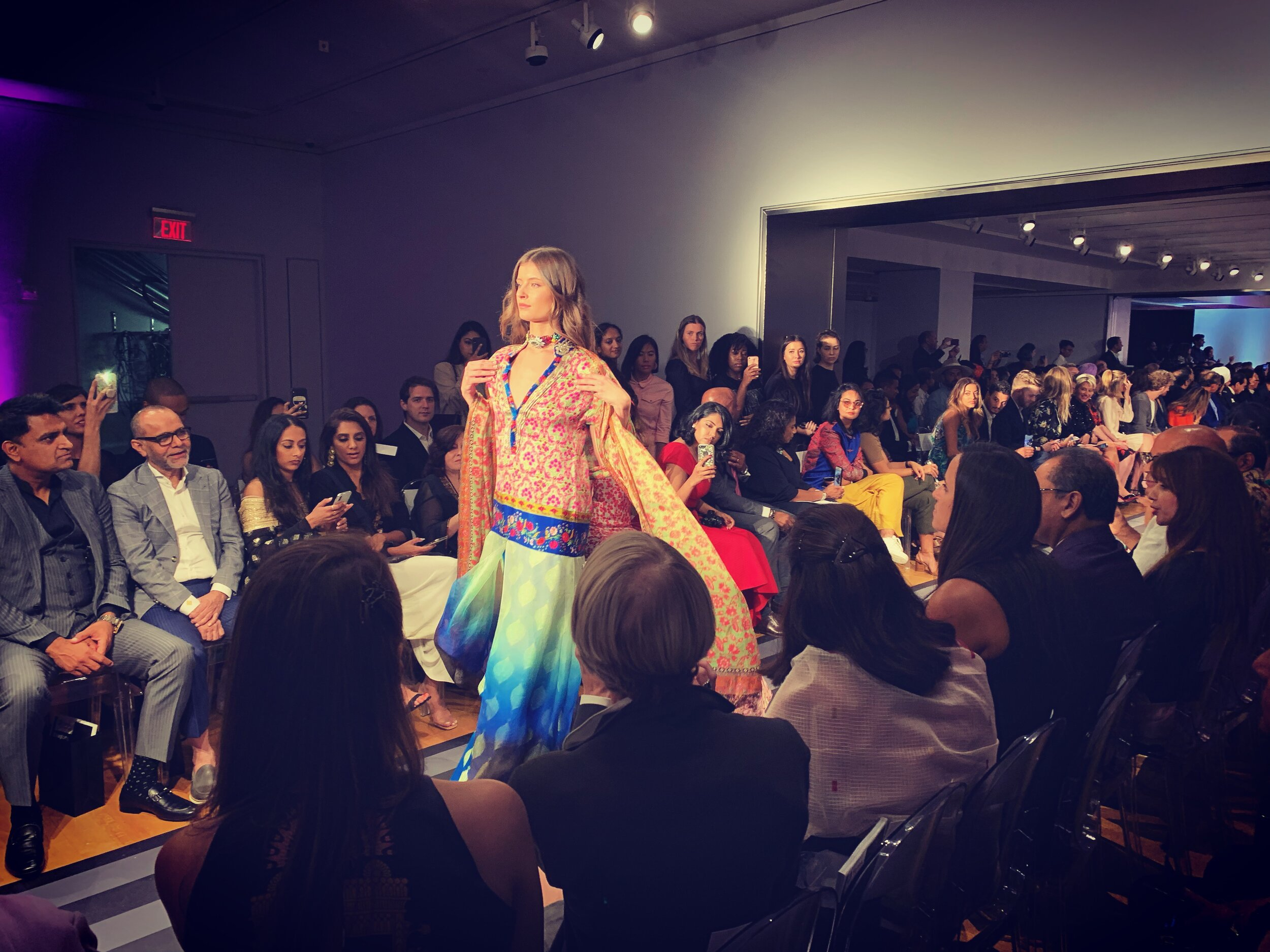 APF participated in Fashion Parade, a runway show at Christie's Auction House in New York promoting the work of Pakistani and Indian fashion designers.