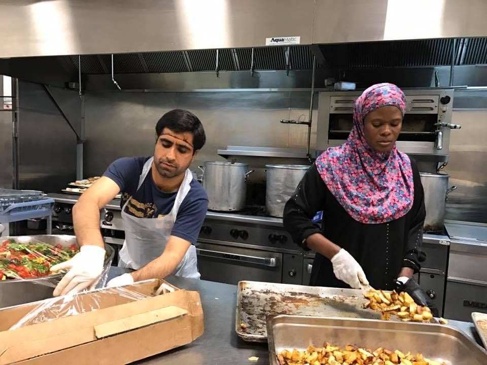 ELS leaders based in Washington, DC organized a day of service where APF members prepared food for the homeless.