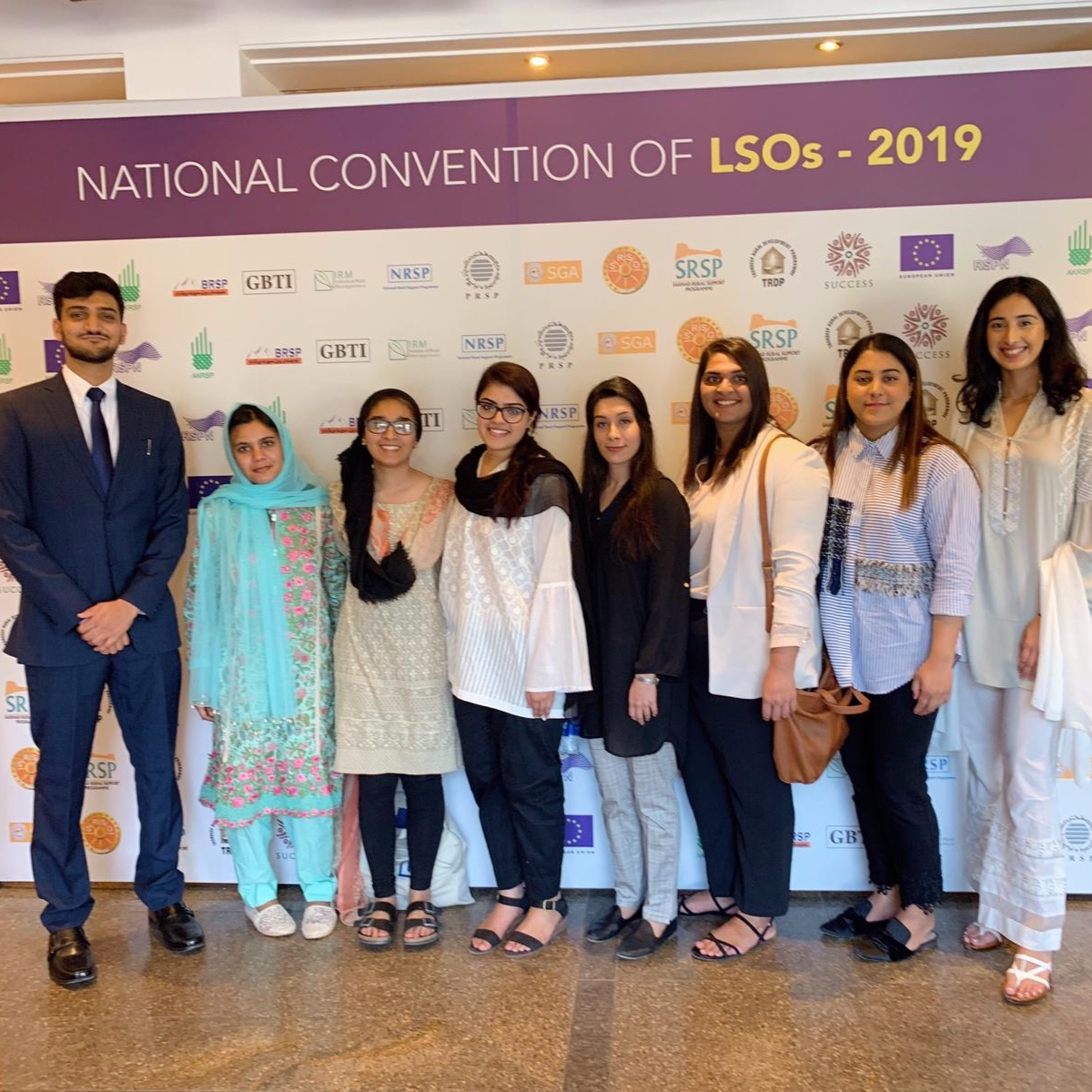 The 2019 APF Fellows attend the National Convention of Local Support Organizations in Pakistan.