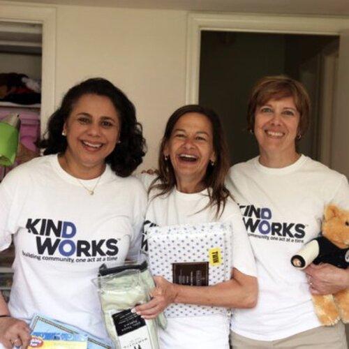 KindWorks CIO Salma Hasan Ali, Executive Director Deb Lang, and Board Chair Denise Schleckser.