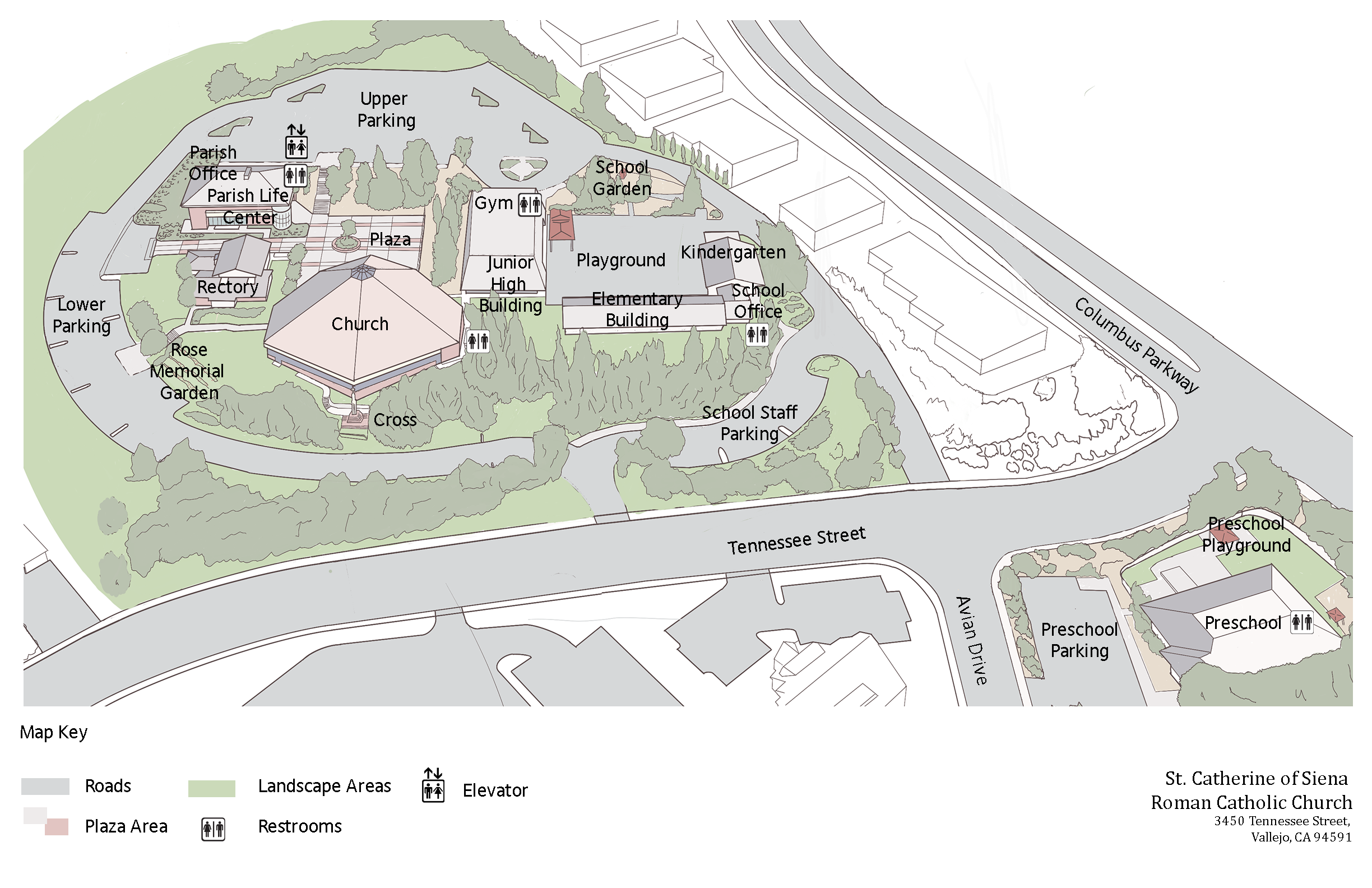 St Catherine's Campus Map-full.png