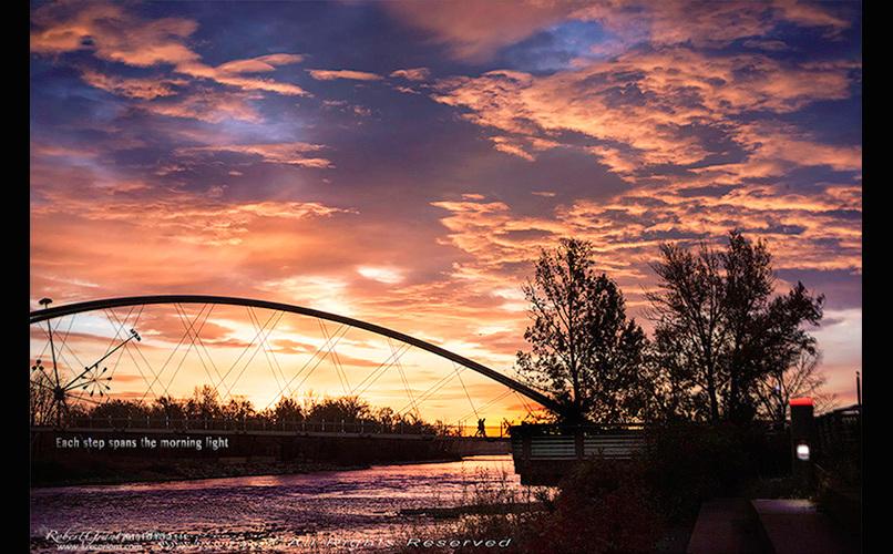 Sunrise Walk - Each step spans the morning light.
