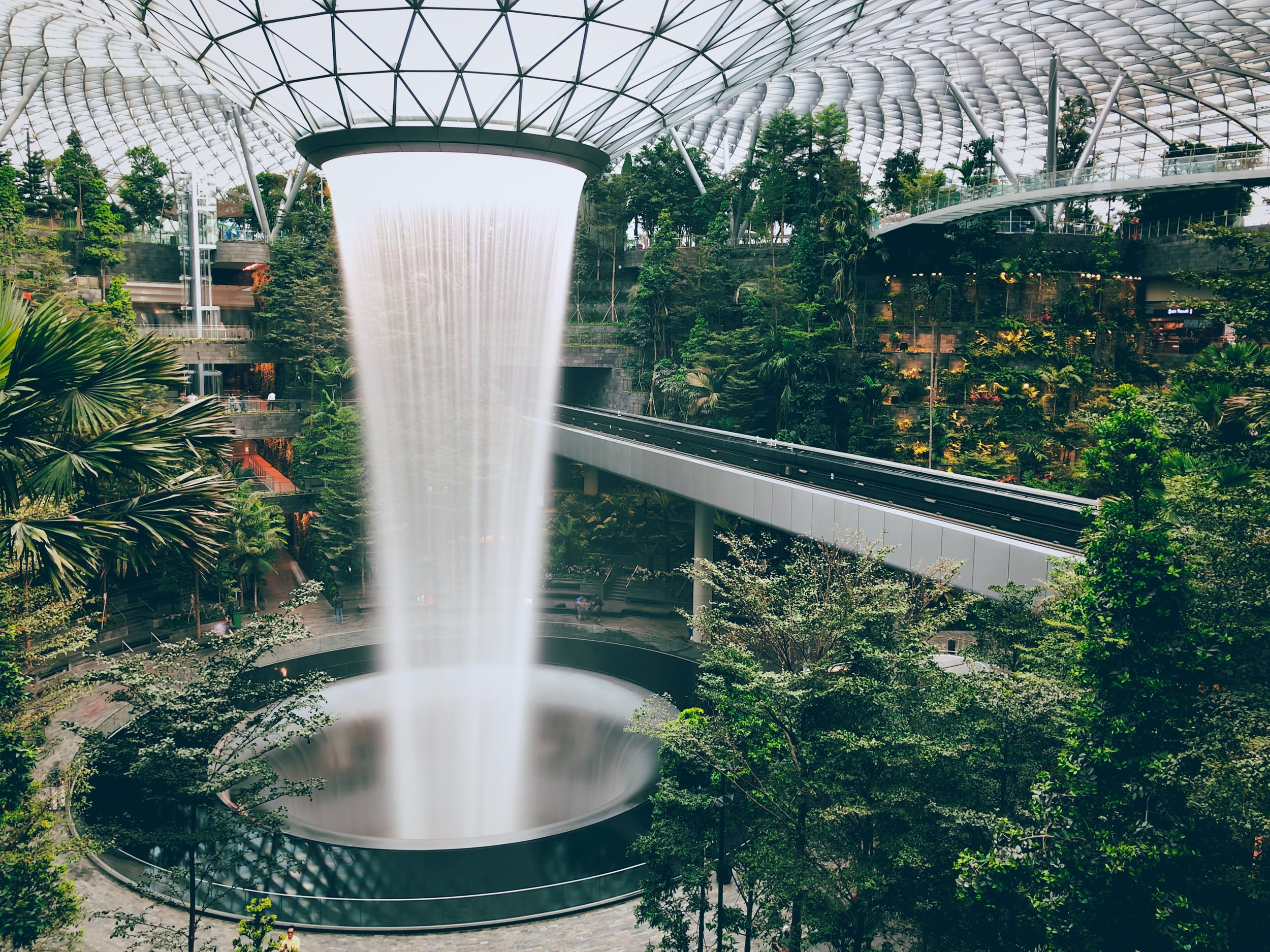 HSBC Rain Vortex at the Jewel Changi Airport
