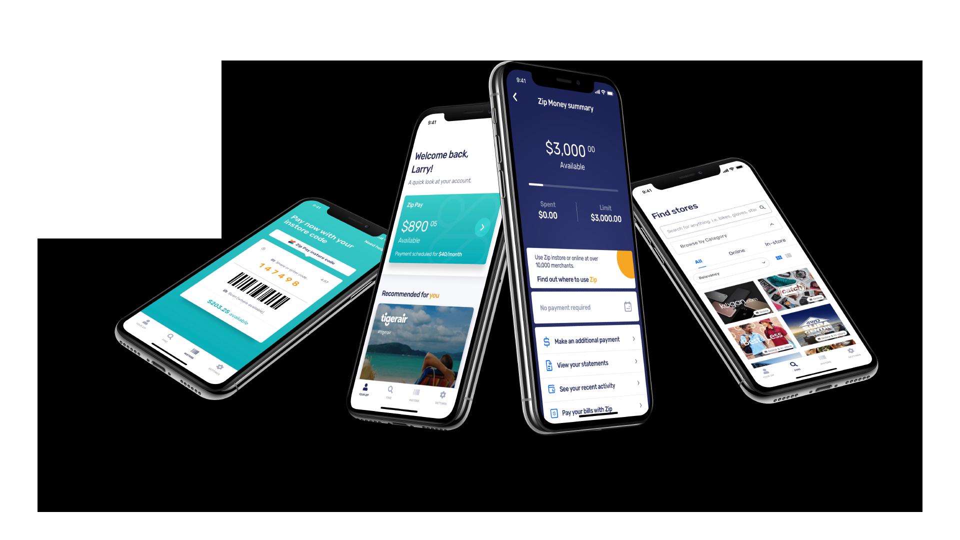 Zip Pay - Website & app design.
