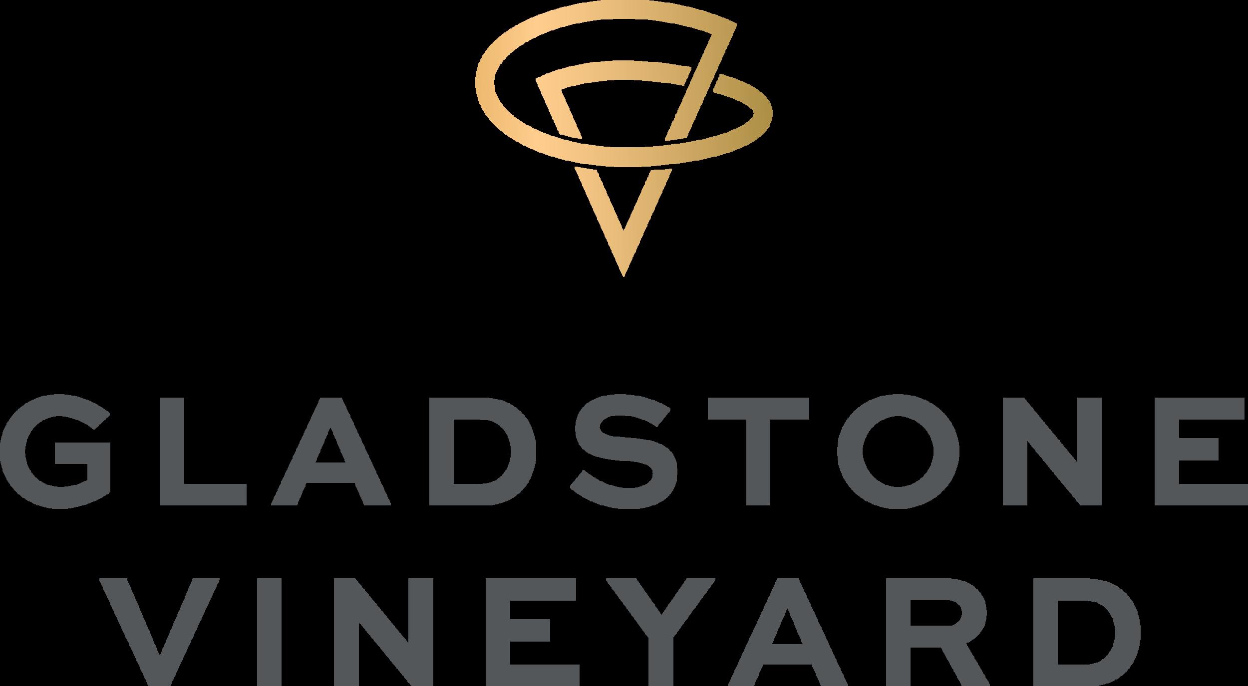 Gladstone Vineyard Logo RGB Stack GoldGrad Graytext.png
