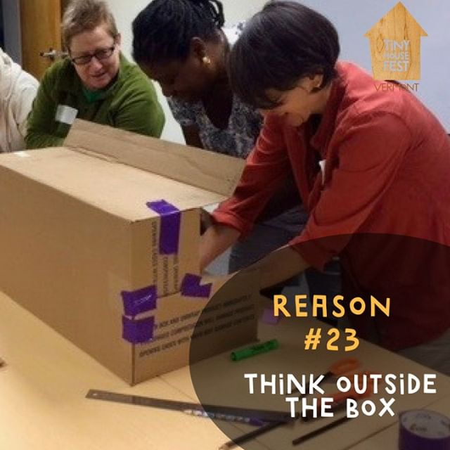 "Change your perspective and think outside the box by exploring a different approach to housing! Talk to the experts, visit their homes and challenge your perception of ""home"". There's still time to join us on Flat Street! See you soon #thinkoutsidethebox #changeyourperspective #tinyhousemovement #tinyhouseonwheels #tinyhousefest #tinyhousefestvermont #tinyhousevermont #tinyhousevt"