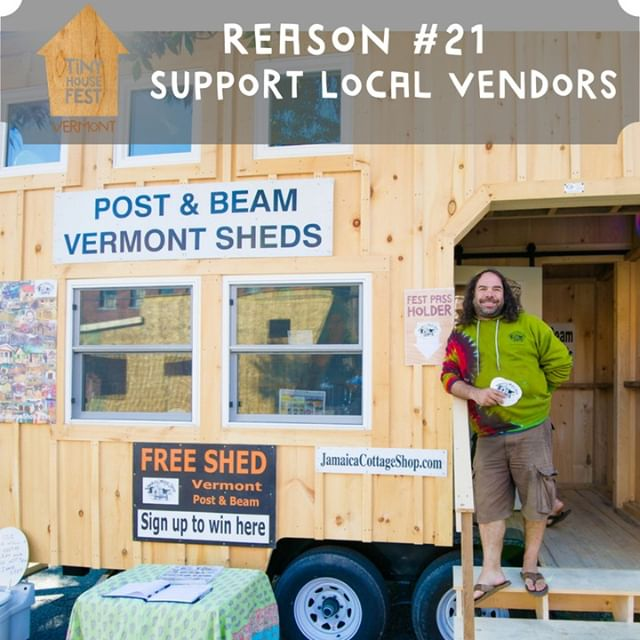All our exhibitors, sponsors and vendors are local to Vermont and the North East! Attending the fest and visiting their booths helps to support their businesses. It doesn't get much better than supporting our neighbors! #localbusiness #buylocal #supportlocalbusiness #vermontbusiness #tinyhousefest #tinyhousemovement #tinyhouseonwheels #tinyhousefestival #tinyhousevermont #enoughness