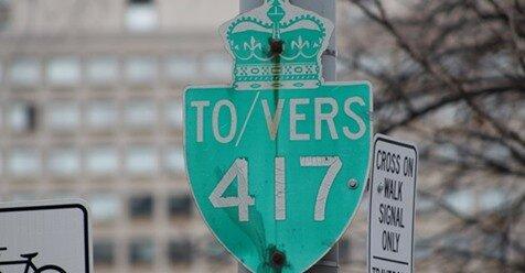 The section of Highway 417, between highway 174 and the Quebec border, will see its speed limit go up to 110 km/hr. / Le tronçon de l'autoroute 417, entre l'autoroute 174 et la frontière du Québec, verra sa limite de vitesse atteindre 110 km /h.