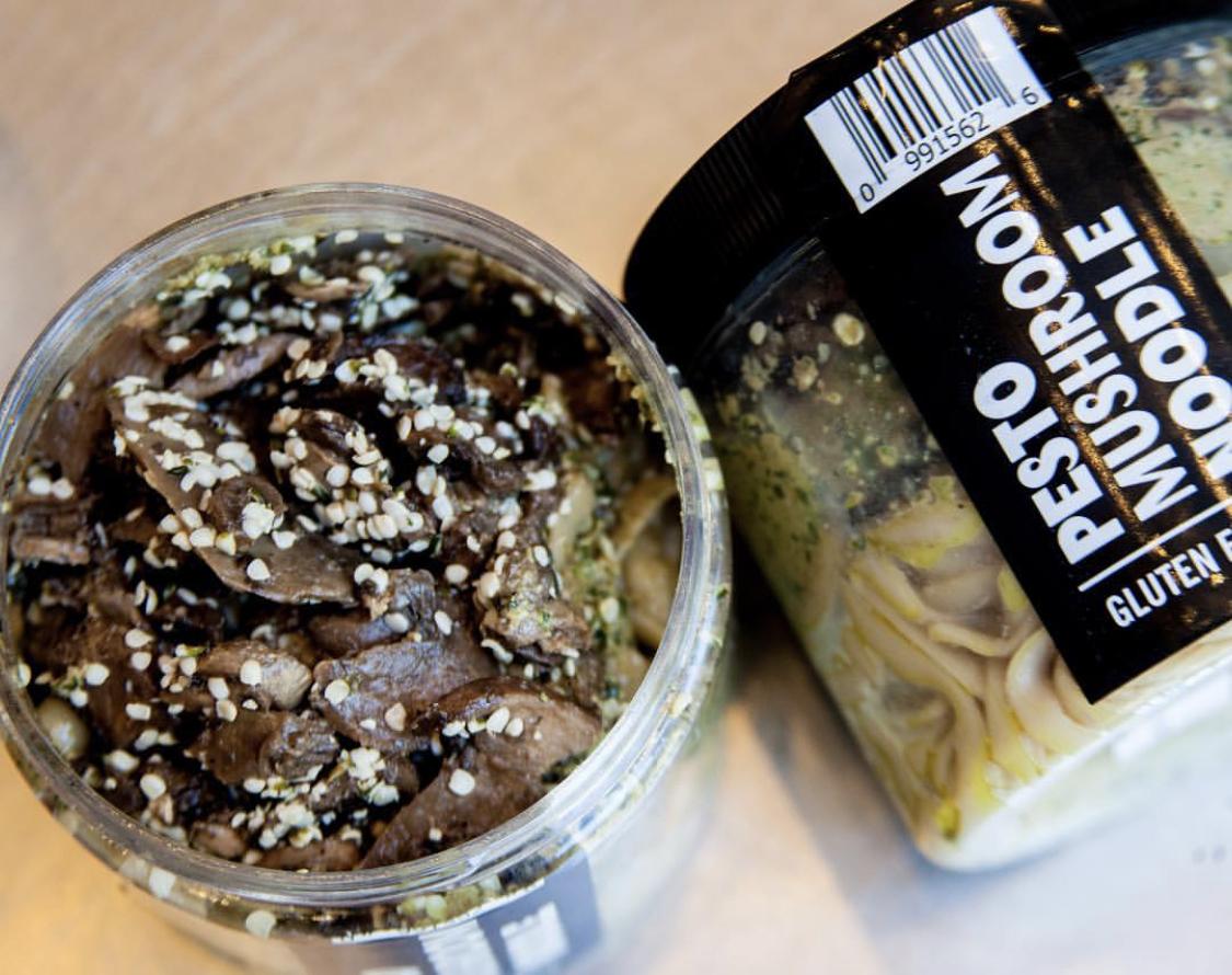 Pesto Mushroom Noodle Jar