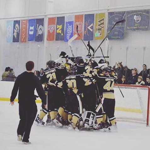 Hands up it's gameday here in Annapolis behind enemy lines! Follow here and @armyclubhockey on twitter for updates