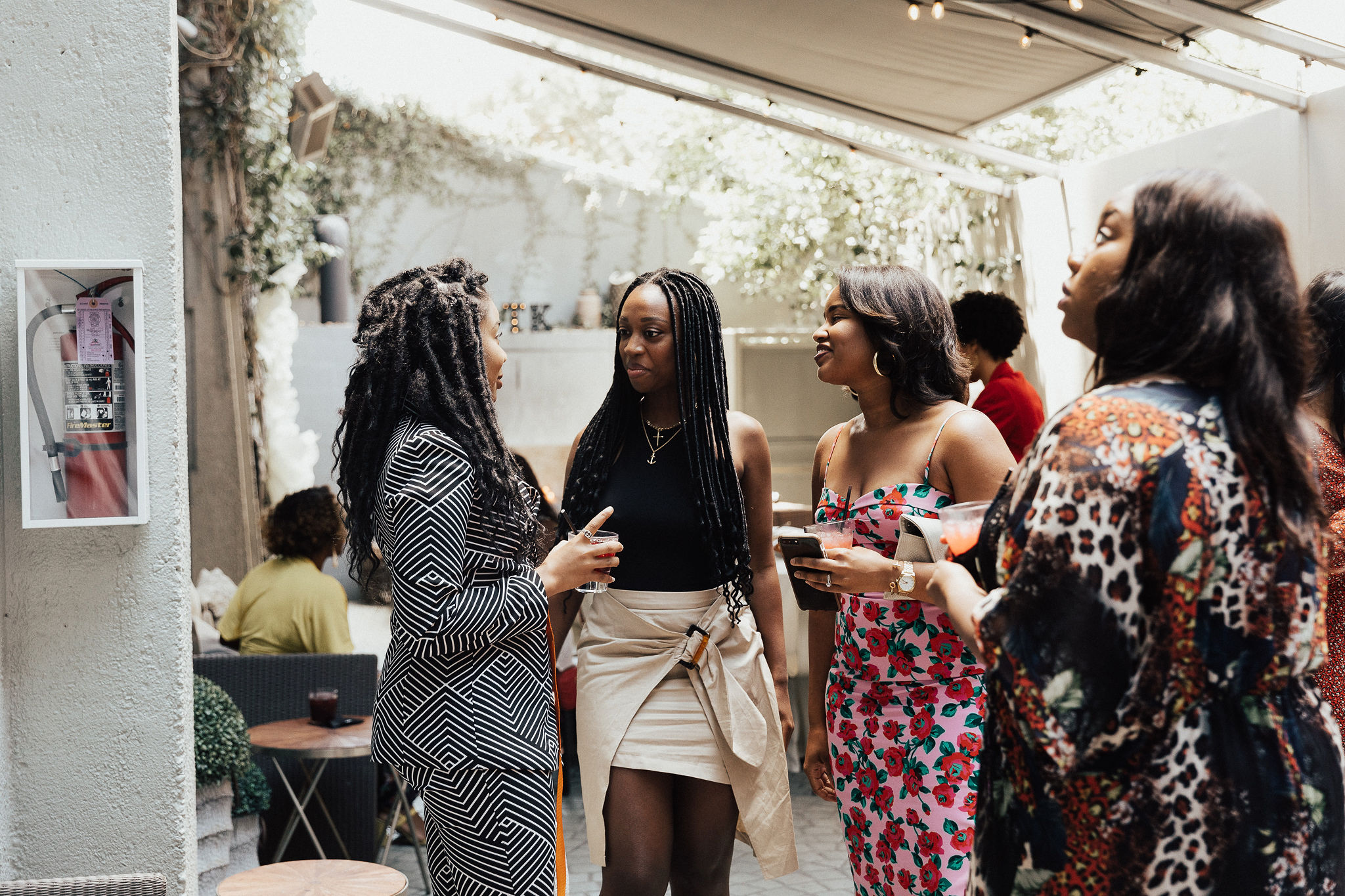 Discussions at the LA FashTech Brunch with Adidas and Athleta reps