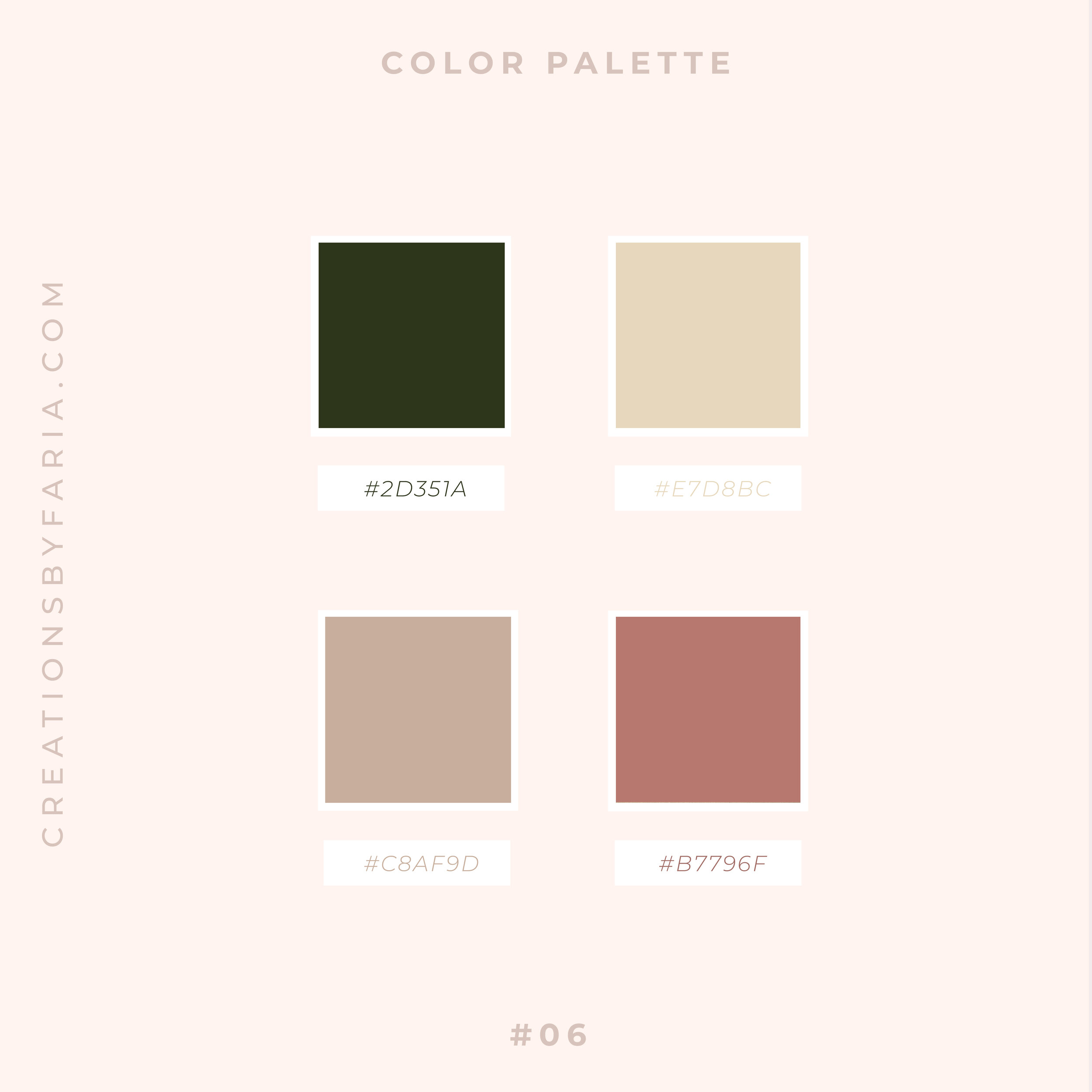 5 Modern Olive Green Color Palettes Creations By Faria Squarespace Website Design